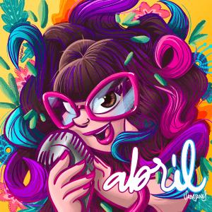 "Carátula de ""Abril"" diseñada por Miss Soez"